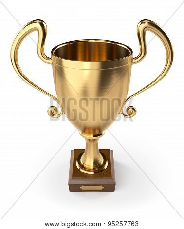 Gold Cup on white background