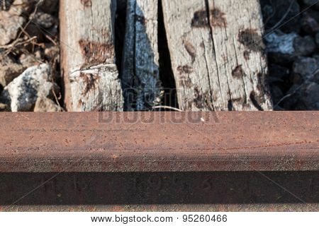 wooden railway sleepers