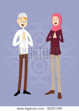 Moslem Couple Illustration