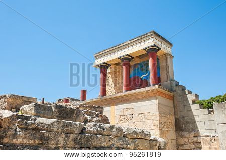 Knossos Palace On The Crete Island, Greece.