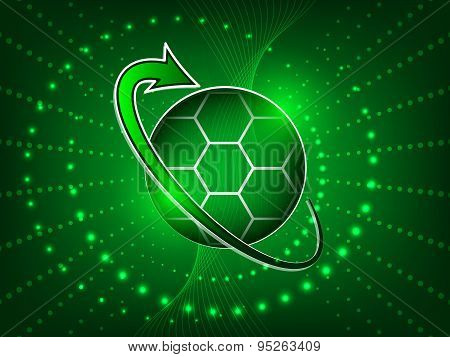 Soccer abstract vector background with ball