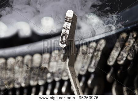 0 And Equal Hammer - Old Manual Typewriter - Mystery Smoke