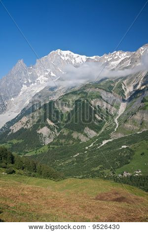 Ferret Valley And Mont Blanc - Vertical