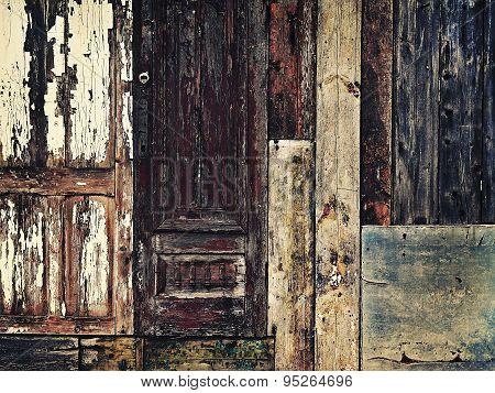 Grunge Background With Wooden Scrap Materials