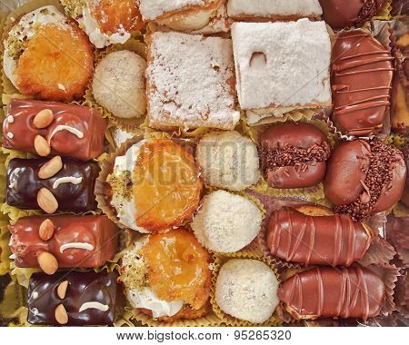 variety of French style pastries