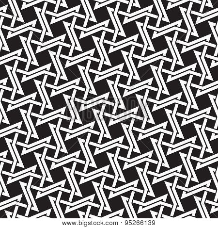 Seamless pattern of intersecting four-point thorns