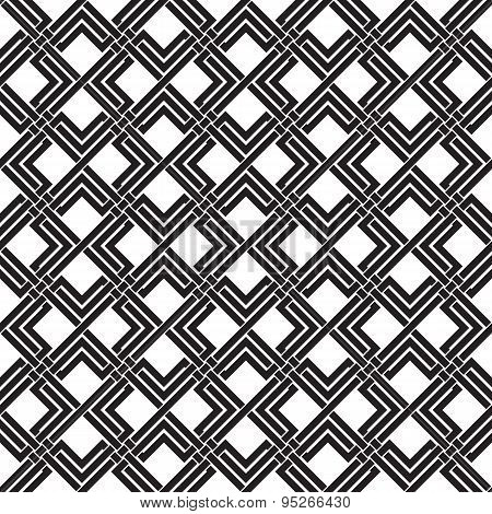 Seamless pattern of intersecting double rhombuses and lines