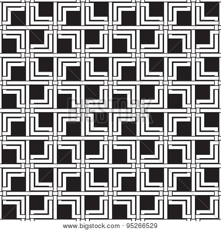 Seamless pattern of intersecting double squares and lines
