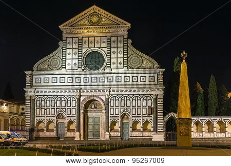 Basilica Of Santa Maria Novella In Evening, Florence, Italy