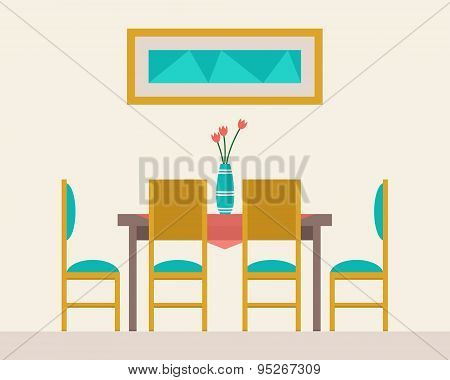 Dining table for date
