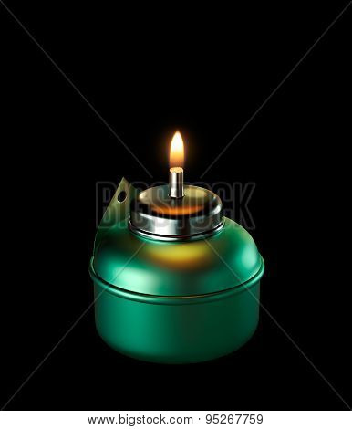 Ramadan Oil Lamp Isolated
