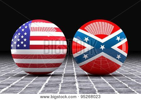 Federated And Confederated Flags Spheres