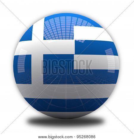 Greek Flag Sphere