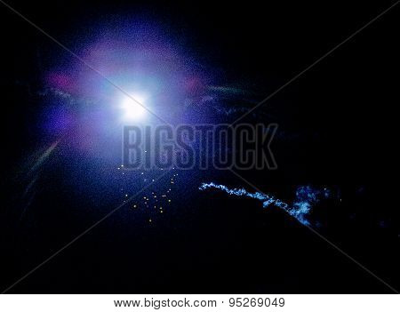 Fireworks On The Night Sky