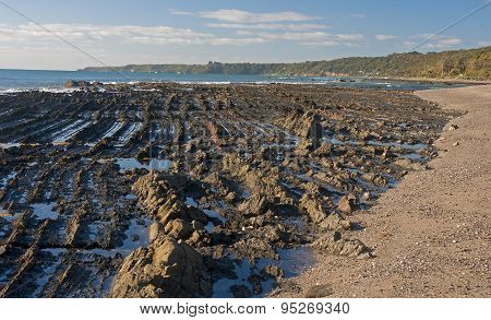 Rocky Beach In Australia..