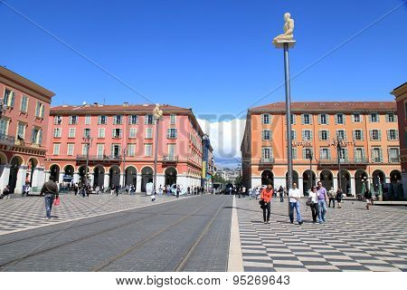 Place Massena - The Main Square Of Nice, France.