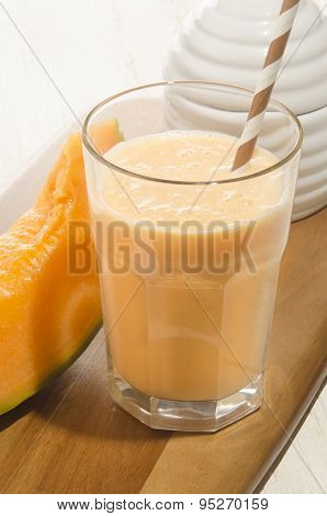 Sweet Summer Drink With Honey Melone