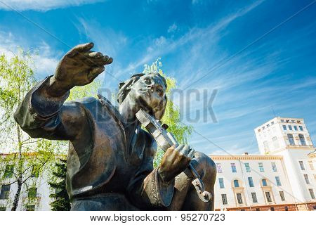 Monument In Honor Of The National Poet And Writer Of Belarus Yak