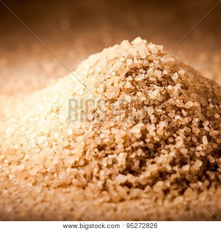 Brown Granulated Sugar Closeup