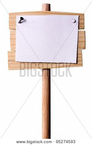 Wooden Pointer With White Paper