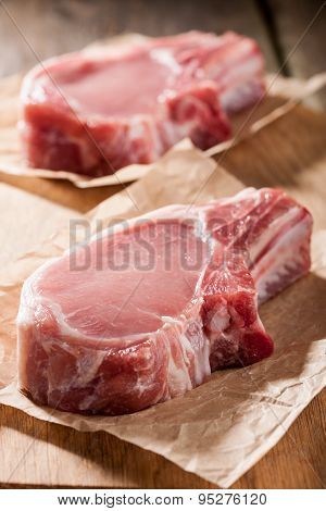 Raw Pork Chop