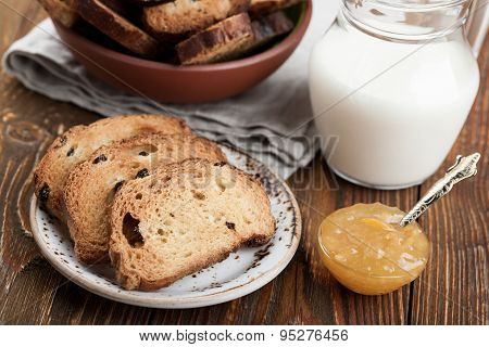 Rusks And Milk Jug