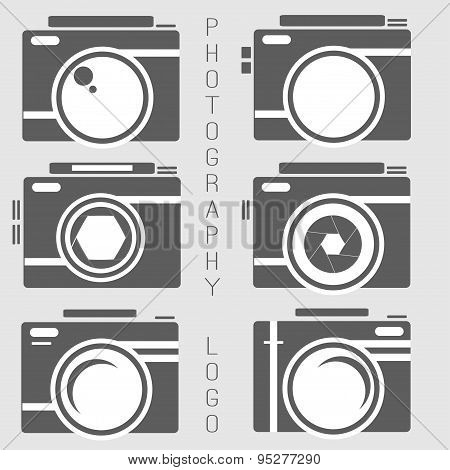 Vector Collection Of Photography Logo Templates. Photocam Logotypes. Photography Vintage Badges And