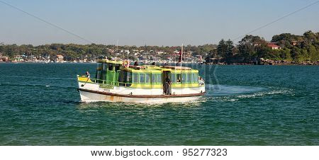 Sydney, Australia - December 14, 2014: Tourists Flowing Passenge
