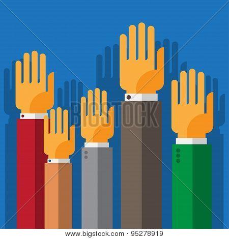 vote hand up