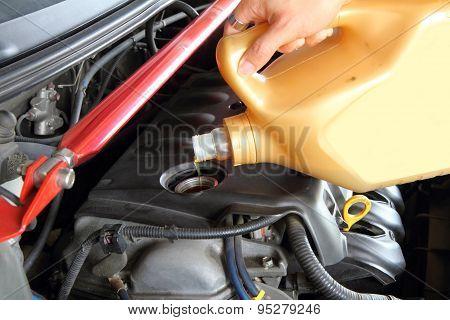 pouring oil machine