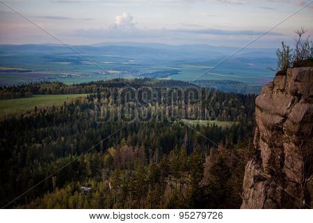 Phenomenon of nature - Stolowe ( Table ) Mountains - rock formations in National Park - Poland near