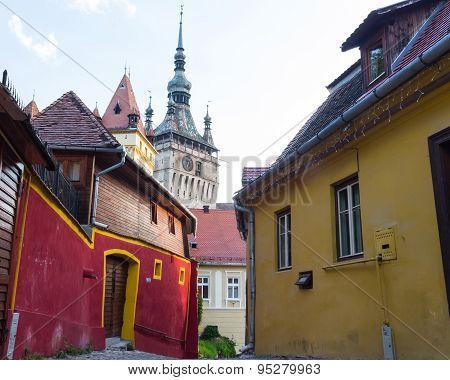 Tower Clock in Sighisoara, Transylvania