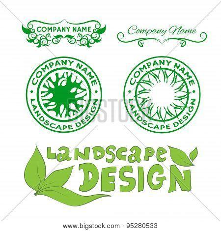 Landscape design logos