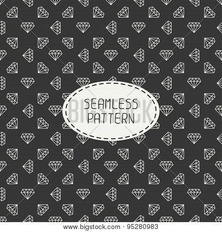 Vector geometric seamless retro pattern with vintage hipster diamond. Wrapping paper. Paper for scra