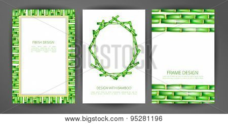 Set of vector bamboo frame.