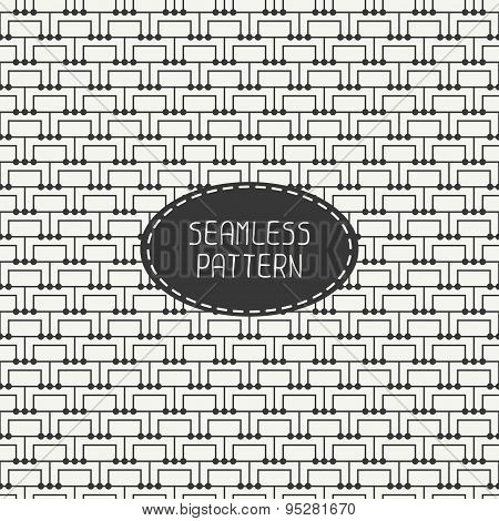 Geometric monochrome abstract square seamless pattern. Wrapping paper. Paper for scrapbook. Tiling.