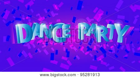 Dance party flyer, musical background, vector
