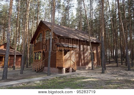 Wooden House In The Forest