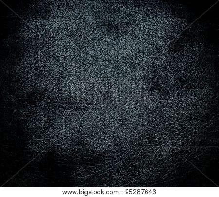 Grunge background of charcoal leather texture
