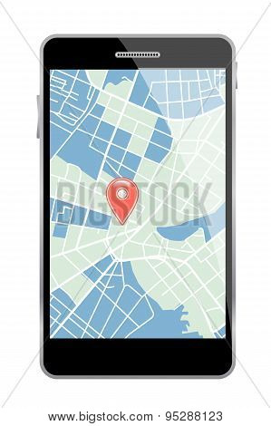 Smartphone with map