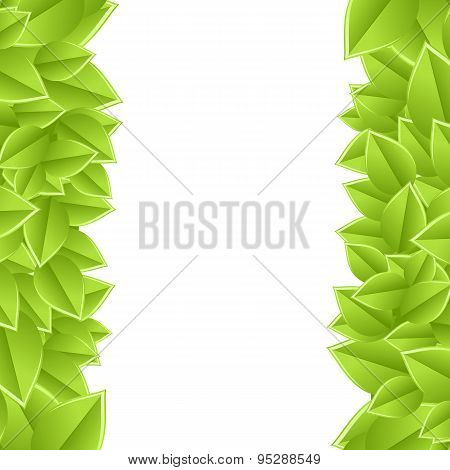 template with leaves