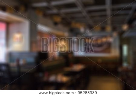 Restaurant blur background