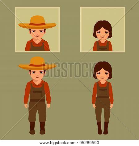 cartoon farmer character,