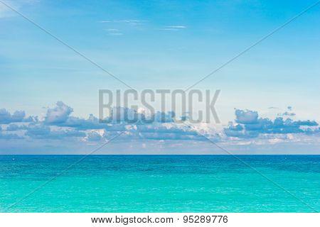 Sky With Clouds Over Sea Beautiful Seascape.