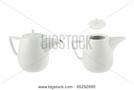 Ceramic teapot isolated