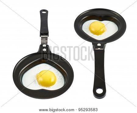 Heart shaped scrambled egg