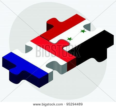 France And Syria Flags