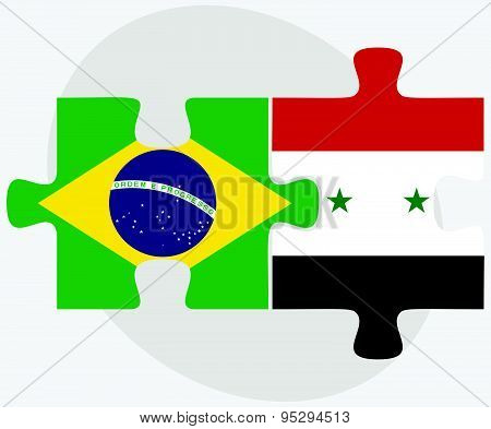 Brazil And Syria Flags
