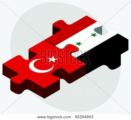 Turkey And Syria Flags