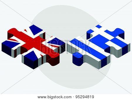 United Kingdom And Greece Flags